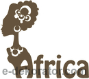 Africa Woman Hair - kod ED307