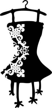 Sukienka na wieszaku Vintage