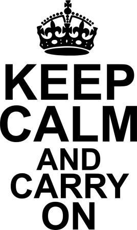 Keep calm and carry on - naklejki scienne - szablon malarski - kod ED509