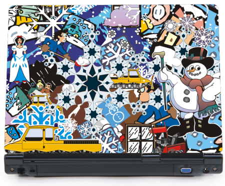 Snow time - naklejka Bomb-Stickers na laptopa lapka - ED751