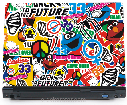Back to the Future - naklejka BombStickers na laptopa lapka - ED746