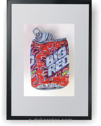 Big Red Ice Water - Plakat A3 w ramce