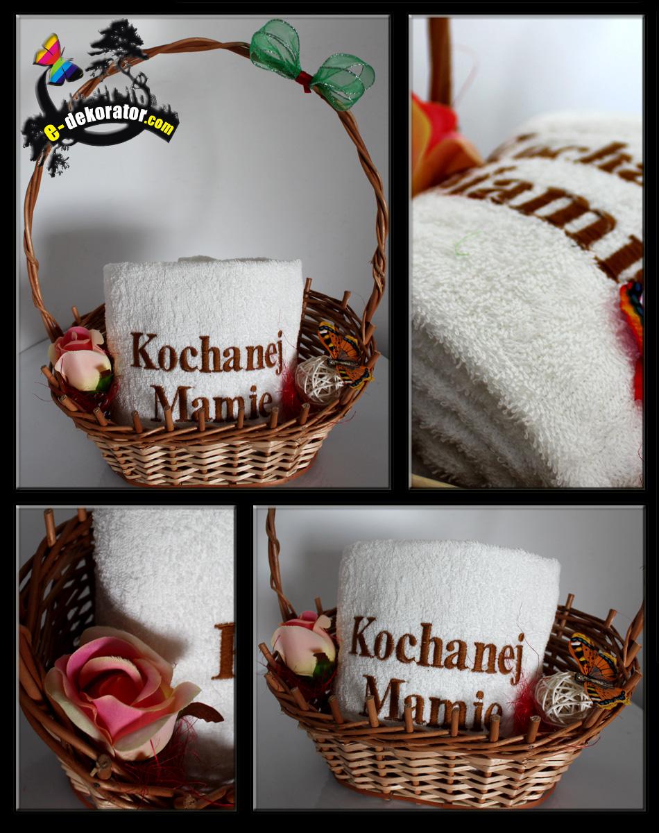 Koszyk dla Mamy na Dzień MATKI - Koszyk z ręcznikami